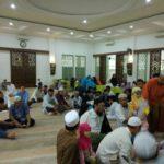 Suasana pendaftaran Sanlat Ramadhan Masjid Daarul Ihsan Bumi Sentosa 1438 H
